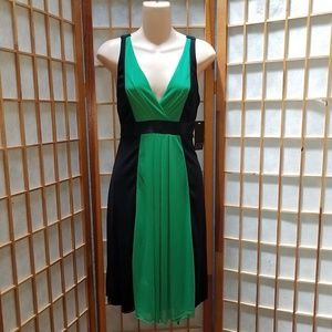 Alyn Paige NWT Green and Black Dress Sz M